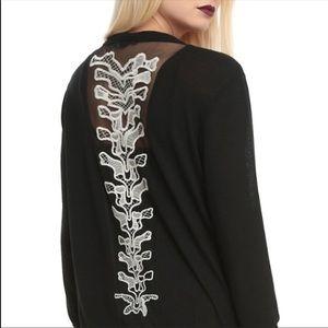 Black spine cardigan